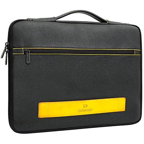 DOMISO 15-15,6 Zoll Wasserdicht Laptophülle Aktentasche Clutch Handtasche mit Griff für 15.6' Lenovo IdeaPad ThinkPad/HP Spectre x360 Pavilion 15 Envy 15 / Dell XPS 15 / Apple/Asus, Schwarz