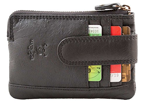 MATADOR ECHT Leder Schlüsseletui Schlüsseltasche Handgefertigt RFID YKK Reißverschluss Schwarz