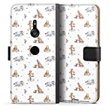 DeinDesign Étui Compatible avec Sony Xperia XZ 3 Étui Folio Étui magnétique Winnie l'ourson...