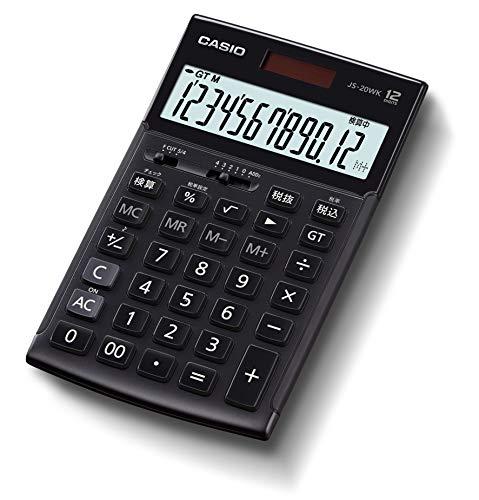 カシオ 本格実務電卓 12桁 (モノトーンブラック)CASIO JS-20WK-MBK-N