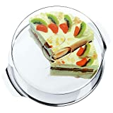 WMF Tortenplatte mit Haube 30 cm, Edelstahlplatte, transparente Frischhalte-Haube, Cromargan Edelstahl, spülmaschinengeeignet
