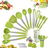 Kitchen Silicone Cooking Utensil Set,34pcs Silicone and Stainless Steel Cooking...