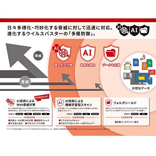 ウイルスバスタークラウド(最新版)|3年3台版|オンラインコード版|Win/Mac/iOS/Android対応