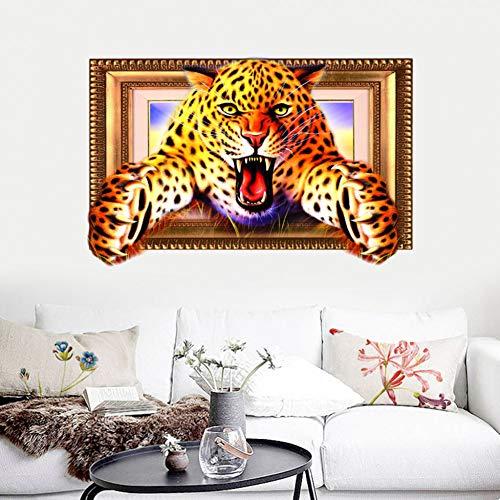 VIOYO 3D Animal Leopard Pvc Sticker Muurstickers Behang Woonkamer Decoratie Home Verbetering Kleding Accessoires