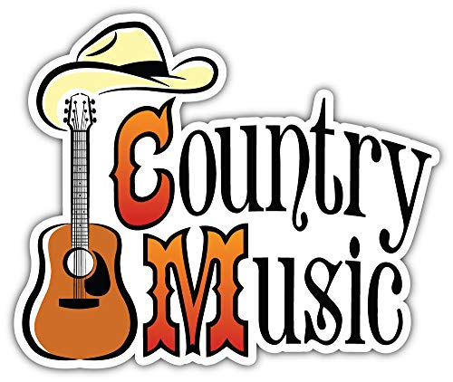 SkyBug Country Western Music Bumper Sticker Vinyl Art Decal for Car Truck Van Window Bike Laptop