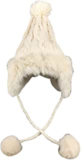 ニット帽 レディース 耳あて ポンポン 秋冬 暖かい 帽子 おしゃれ 小顔効果