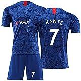 Xiongdeisix 19-20イギリスプレミアリーグチェルシーサッカーユニフォーム男子サッカートレーニングユニフォーム#7#9#10 for Chelsea (Color : Bule7, Size : M)