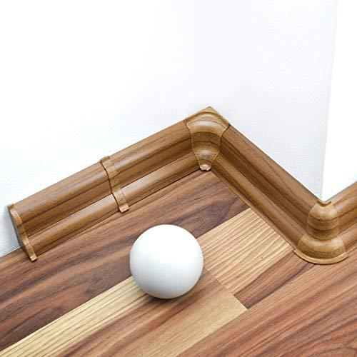 [DQ-PP] Außenecke 52mm PVC Nuss Venezia Laminatleisten Fussleisten aus Kunststoff PVC Laminat Dekore Fußleisten