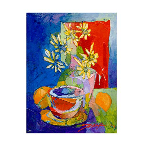 Trademark Fine Art Morning Coffee and Dasies I by Yuval Wolfson, 18x24, Multiple