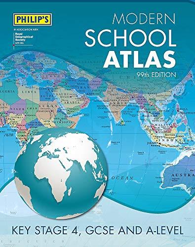Philip\'s Modern School Atlas 99th Edition (Philip\'s World Atlas, Band 5)