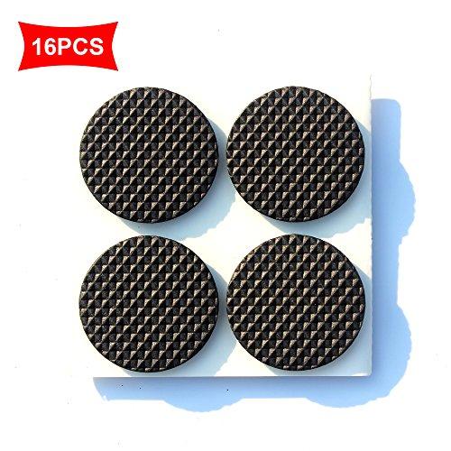 Anti-slip rubberen pads zelfklevend (slipvast voor meubels, banken, tafel) - viltglijders meubelglijders zelfklevend beste tegels, laminaat, houten vloerbeschermers rond 3,8 cm 16 stuks