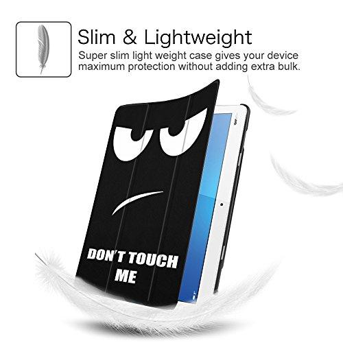 Fintie Huawei Mediapad M3 Lite 10 Hülle - Ultra Dünn Superleicht SlimShell Case Cover Schutzhülle Etui Tasche mit Zwei Einstellbarem Standfunktion für Huawei Mediapad M3 Lite 10 Zoll, Don't Touch - 5