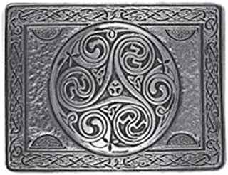 Stunning Triskell Cast Pewter Kilt Trews Belt Buckle - Made In Scotland