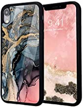 Idocolors Cases for iPhone Xs Max,Design Soft Silicone Bumper&Aluminum Hard Back Shockproof Protective Cover,Luxury Exquisite Gold Quicksand Marble Print High-end Case for iPhone Xs Max
