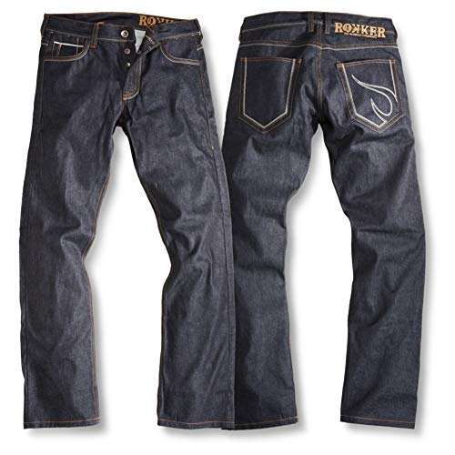 Rokker Red Selvage Raw Motorrad Jeans, W32 L36