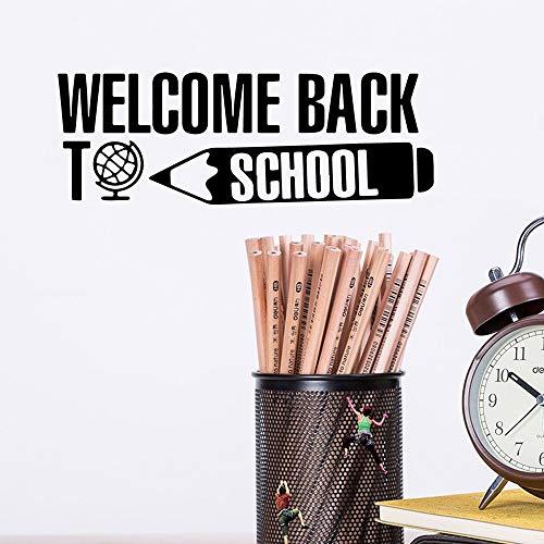 yaofale PVC-Wandaufkleber-Kreative Willkommen zurück in der Schule Aufkleber wasserdichte Vinyl Tapete Wohnzimmer Schlafzimmer Wohnkultur Party Dekoration Tapete