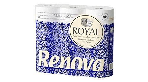 Renova Papel Higiénico Royal 4 Capas - 9 Rollos Premium