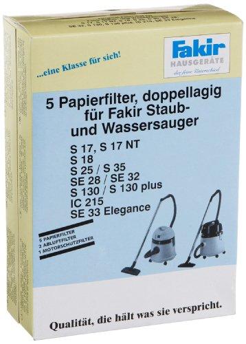 Fakir Kesselsauger 2601805 Papierfilter Pack A 5