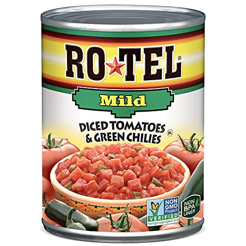 ROTEL Mild Diced Tomatoes and Green Chilies, 10 Ounce, 12 Pack
