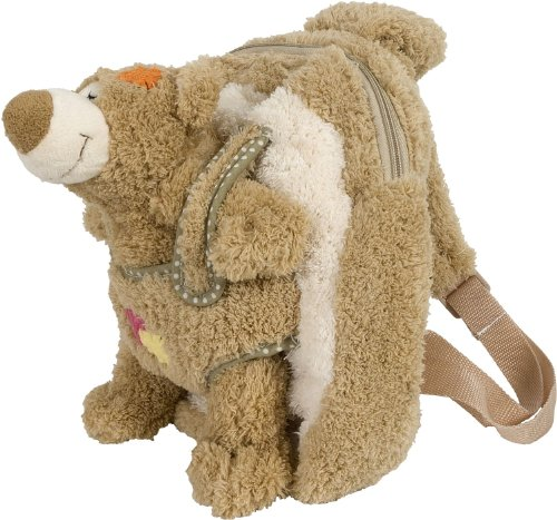 Bieco Kinderrucksack Plüsch Bär ca. 30x25x12cm | Kinder Rucksack | Rucksack Kinder | Wanderrucksack Kinder | Mini Rucksack | Rucksack Kindergarten | Rucksack Mädchen | Rucksack Jungen | Rucksäcke