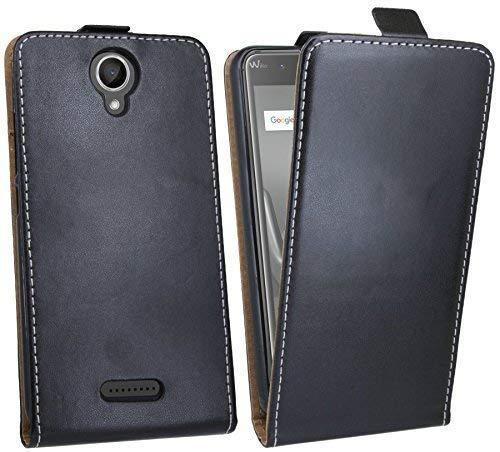 cofi1453 Klapptasche kompatibel mit WIKO Harry Schutztasche Schutzhülle Flip Tasche Hülle Zubehör Etui in Schwarz Tasche Hülle