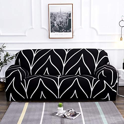 Funda de sofá elástica Fundas elásticas Funda de sofá con Todo Incluido para Diferentes Formas Sofá Loveseat Silla Funda de sofá Estilo L A14 4 plazas