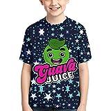 Zumo de Guayaba Camisetas de algodón para niños Camiseta Estampada en 3D para niños pequeños Camiseta Casual de Manga Corta para niños