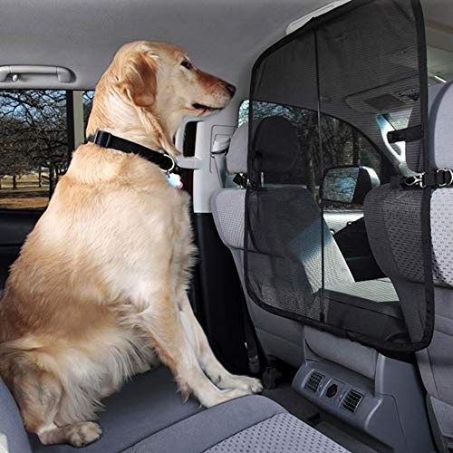DELEX Car Pets Barrier Automotive Backseat Dog Screen in Cars for Dogs Carriers &Travel Accessories,Front Seat Barrier, for Cars, Trucks and SUVs