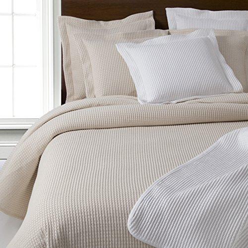 Design Port Gaufre, Coton, crème, Cushion Cover 50x50