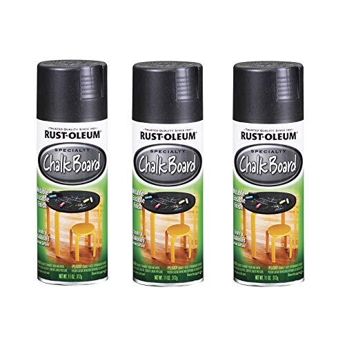 Rust-Oleum 1913830A3 Chalkboard Spray Paint, 3 Pack, Black, 33 Ounce