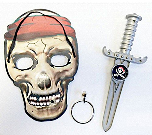 BG Masque + Epee Pirate 22 CM Tete DE Mort