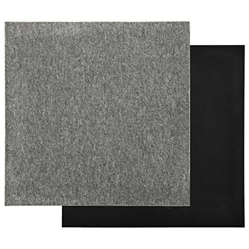 vidaXL 20x Teppichfliesen Selbstliegend Bodenbelag Teppichboden Teppich Fliese Fliesen Schutzmatten Matten Teppichplatten 5m² 50x50cm Grau