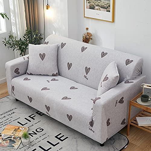 Funda de sofá elástica con Estampado de Hojas pastorales Funda de Cuatro Estaciones Funda Ajustada Funda de sofá elástica Universal para Sala de Estar A34 2 plazas