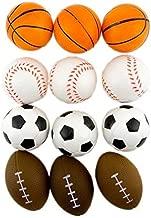 Adorox (24 Balls Assorted) 2.5 inches Mini Sports Balls Stress Relief Squeeze