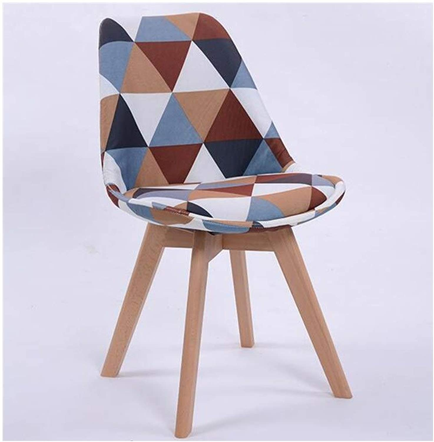 AJZGFDining Chair, Kitchen Chair Nordic Wood Dining Chair, Creative Computer Chair Modern Minimalist Office Stool Back Adult Leisure Chair (color   A)
