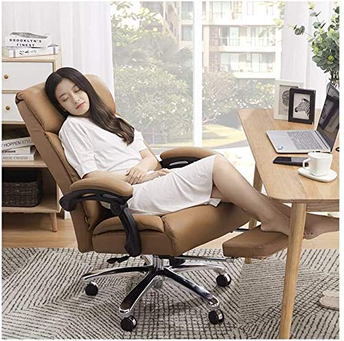 RUIMA Bürostuhl Computer Stuhl Exekutive Bürostuhl Computer-Bürostuhl Spiel Stuhl, Reclining Kuhfell Geschäft Drehstuhl Startseite Bequeme Leder