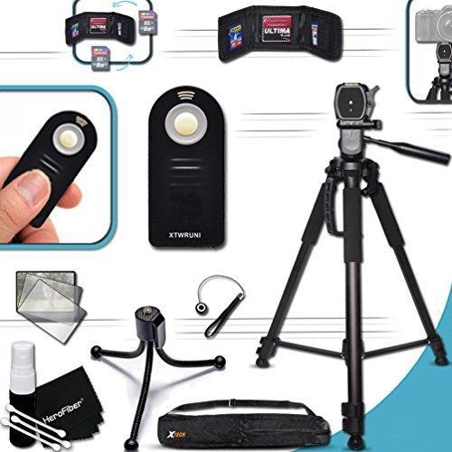 """PRO Grade 72"""" inch TRIPOD + Universal Camera REMOTE Control KIT for Canon EOS 70D 60D 7D 6D 5D 5DS, 5DS R, 7D Mark II EOS Rebel T6i T6S T5i T4i T3i T3 T2i SL1 8000D 760D 750D 700D 650D 600D 550D 1200D 1100D 100D EOS M, EOS M3, EOS M2, T1i XTi XT SL1 XSi 5D Mark II, 5D Mark III DSLR Cameras"""
