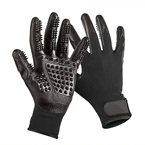 TiLin 1 par de manoplas para mascotas, cinco dedos, guantes de goma para masaje, cepillado, guantes para perros, gatos, caballos, derramamiento
