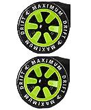 Unbekannt MGP Madd Gear Hinterräder für Drift Trike + Fantic26 Sticker (grün)