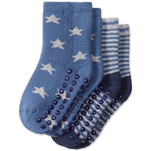 Schiesser 2pack Baby Socken Jungs Chaussettes, Multicolore (1 901), 16 (Lot de 2 Bébé garçon