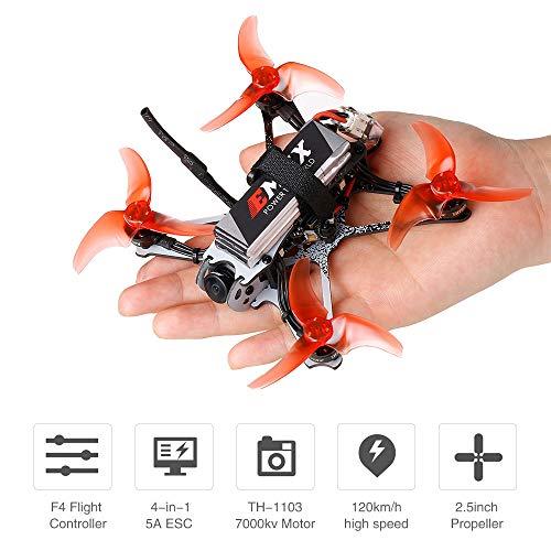 Mobiliarbus RC Racing Drohne Tinyhawk II Renndrohne FPV Drohne 120 km / h F4 5A ESC Bürstenloser Motor 7000KV RunCam Nano2 700TVL 37CH 25/100 / 200mW VTX FPV Quadcopter BNF