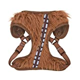 Star Wars Chewbacca Cosplay Dog Harness for Small Dogs, Small (S) | Brown Small Dog Harness is Cute No Pull Dog Harness | Star Wars Merch for Dogs or Star Wars Pet Costume