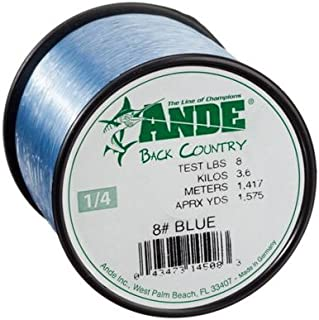 ANDE Back Country Monofilament Line with 30-Pound Test, Blue, 2-Pound Spool (3200-yards)