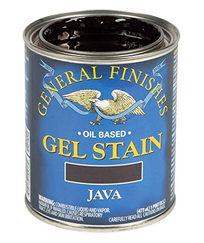 General Finishes Oil Base Gel Stain, 1 Pint, Java