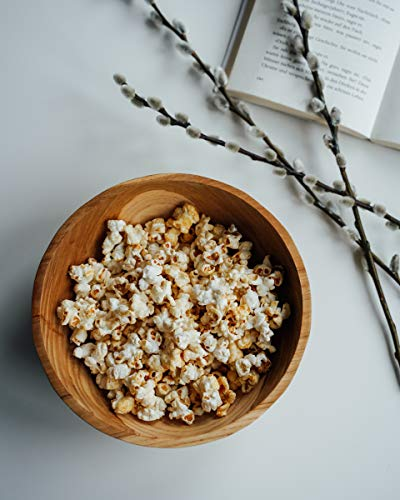 onvacay Teak-Holz Schale Bowl Vegan Salat Smoothie EIS Frühstück Porridge 15cm inkl. Löffel im Set Zertifiziert handgefertigt - 9
