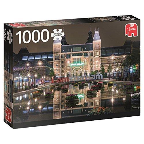 El Rijksmuseum de Noche, Ámsterdam, Puzzle de 1000 Piezas (618351)