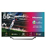 Hisense 55U7QF QLED 139 cm (55 Zoll) Fernseher (4K ULED HDR Smart TV, HDR 10+, Dolby Vision & Atmos, Full Array Local Dimming, WCG, USB-Recording, Ultra Slim Design, Mittelstandfuß)