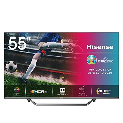 "Televisor Hisense 55U7QF - Smart TV 55"", ULED 2020, Resolución 4K, Quantum Dot, FALD, Dolby Vision, Dolby Atmos, Vidaa U 4.0 con IA, Alexa built-in"