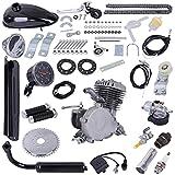 Hadaiis Kit de motor de bicicleta de 80 cc para bicicleta de 24 pulgadas, 26 pulgadas, 28 pulgadas, motor de gasolina motorizado de 2 tiempos con velocímetro