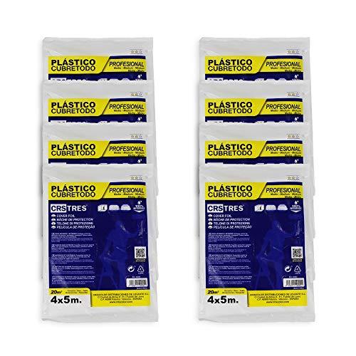 Plástico Cubretodo protector 4x5m - 20 m2 (PACK x8, MEDIO)